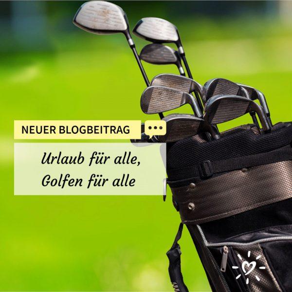Golftasche mit vielen Golfschläger