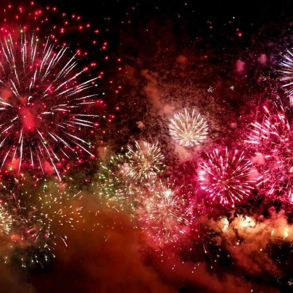 farbenfrohes Feuerwerk